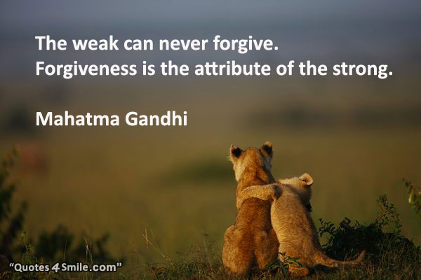 the-weak-can-never-forgive